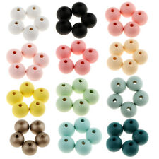 30pcs Round Wood Spacer Bead Natural Loose Beads Wooden Ball 14mm Crafts