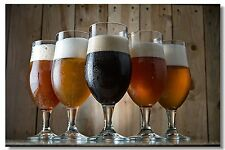 Poster Silk Craft beer Roome  Art Wall Cloth Print 21