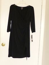 OH,BABY MOTHERHOOD MATERNITY NWT 3/4-SLEEVE RUCHED DRESS--L, XL--SHIPS FREE