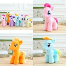 "7"" My Little Pony Horse Figures Stuffed Plush Soft Teddy Doll Toy Kids Gift"