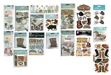 Wild West Cowboy Cowgirl Hat Boots Lasso Horse Saddle Gun Bull Stickers U PICK