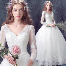 RRP $3688 Lace Beautiful Beadworks Crystals V Neck Boned Wedding Dress Hand Made