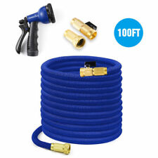 50/75/100FT Expandable Flexible Garden Pets Water Hose 8-Way Water Spray Nozzle