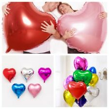 10 Heart Foil Helium Balloons Birthday Wedding Party Valentines Day Decoration