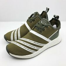 Adidas WM NMD R2 PK White Mountaineering Olive Primeknit Boost Green CG3649