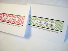 24 Personalized Chevron Thank You Note Cards Stationery & Envelopes Teacher Gift
