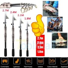 Portable Carbon Fiber Superhard Travel Telescopic Fishing Rod Sea Spinning Pole