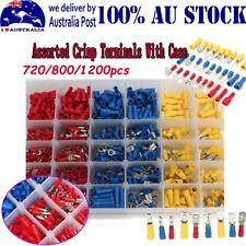 Assorted Insulated Crimp Terminals Spade Electrical Wire Connectors AU