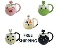 Panda or Pig Cute Mug Cup Set with Spoon Great for Christmas Gift! Free shipping