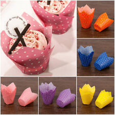 Tulips Cupcake Liners Paper Cake Baking Cup Muffin Cases Weeding Party Baking