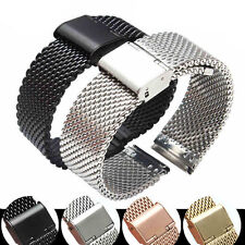 Stainless Steel Bracelet Strap Watch Mesh Replacement Band 18 20 22 24 mm gc0