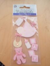 BABY GIRL SPECIAL DELIVERY TEDDY BEAR BOOTIES REPEATS SLEEP OUTFIT BALLOONS