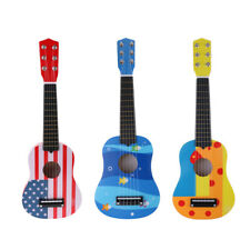 Kids/Baby Cartoon Wood Acoustic Guitar Ukulele Instrument Play Music & Art Toy