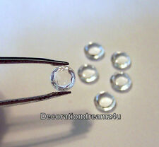 Edible Diamond Jewel Gems Cake Decoration-0.6 cm Handmade -Clear or Custom Color