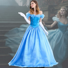 Cinderella Costume Adult Princess Masquerade Halloween Fancy Dress Cosplay