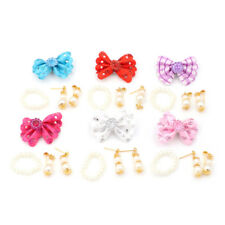 1 Set Jewelry Pearl Necklace Earrings for Barbie Dolls Plastic Accessories FT