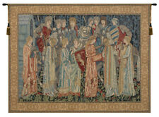 Knights Departure Belgian Woven Medieval Knight Tapestry Wall Hanging NEW