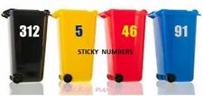 3 Wheelie Bin Numbers bin Stickers Self Adhesive BIN NUMBERS bins