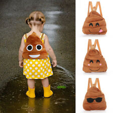 Cute Kid Toddler Backpack Kindergarten Schoolbag 3D Cartoon Emoji Bags