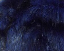 Super Luxury Faux Fur Fabric Material - LONG PILE OCEAN BLUE
