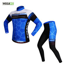 Mens Spring/Autumn Cycling Clothing Set Quick Dry Jersey Breathable Pad Shorts