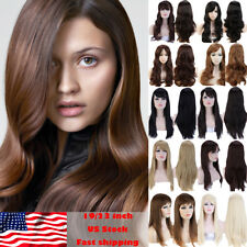 Fashion Long Hair Full Wig Real Soft Natural Synthetic Hair Costume Cosplay Hair