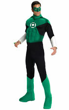 Green Lantern Hal Jordan Deluxe Justice League Muscle Superhero Men Costume