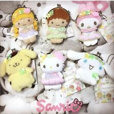2017 Rare Retired New SANRIO CHARACTERS Fairy plush Coin purse Keychain.