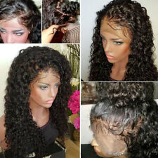100% Brazilian Human Hair Wig Glueless Unprocessed Kinky Curly Full Front Lace s