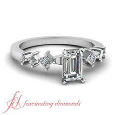 .65 Ct Emerald Cut Natural Diamond Engagement Ring Solid 14K Gold GIA Certified