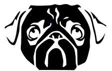 Pug Dog Face Cute Cool Funny Car Truck Window Vinyl Decal Sticker 12 Colors