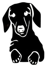Dachshund Face Cute Cool Funny Car Truck Window Vinyl Decal Sticker 12 Colors