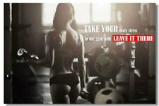 Poster Bodybuilding Men Girl Fitness Workout Quotes Motivational Font Print 06