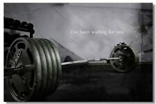 Poster Bodybuilding Men Girl Fitness Workout Quotes Motivational Font Print 032