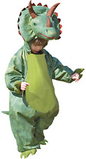 Boys Girls Toddlers Green Triceratops Dinosaur Animal Fancy Dress Costume 1-8yrs