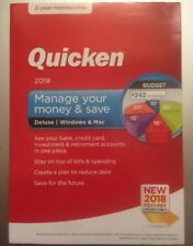 Quicken Deluxe 2018 Brand New Sealed