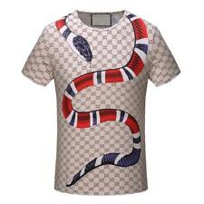 NEW Men's 3D Graphic TEE Classic Snake Icon Round Neck T-Shirts Short Sleeve