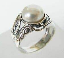 Authentic 925 Sterling Silver fresh water pearl Cocktail White Color Jewelry