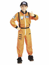 Astronaut Cosmonaut Spaceman NASA Orange Suit Uniform Boys Costume
