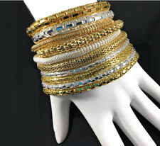 Mesh Chain Stretch Bracelets 12K Gold Filled & 925 Sterling Silver Filled Unisex
