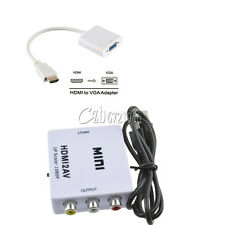 For HDTV Mini Composite 1080P HDMI to RCA Audio Video AV CVBS Adapter Converter