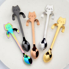 New Long Stainless Steel Spoons Tea Coffee Latte Dessert Sundae Ice Cream