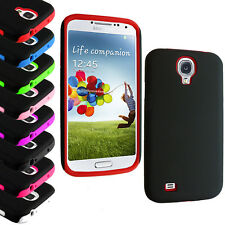 Silicone Hybrid Hard And Skin Case Cover For Samsung Galaxy S4 S iV i9500