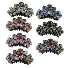 Novelty Flower Crystal Rhinestone Claw Hairpin Womens Hair Clamp Accessories