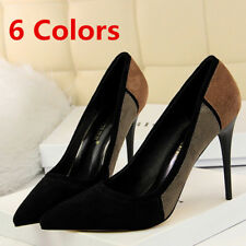 Womens Pumps Pointed Toe Suede Stilettos High Heels Dress Party Wedding Shoes