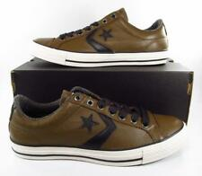 Converse Star Player EV Ox Oxford Low Top Sneaker BROWN BLACK LEATHER 136367C