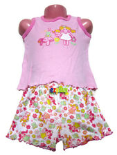 Princess Frog Pink Summer Cotton Girls Pjs Pyjamas