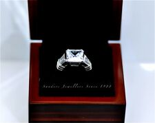 Luxury 4.2Carat Princess Cut Engagement Wedding Rings