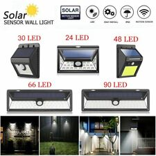 Waterproof 90 LED Solar Power PIR Motion Sensor Wall Light Outdoor Garden Lamp
