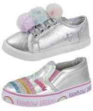 Buckle My Shoe Metallic Rainbow Slip On Pumps Trainers BMS Party Shoes Size